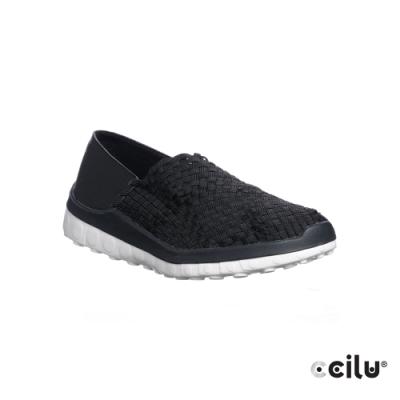 CCILU 輕量編織休閒鞋-男款-301260001黑色