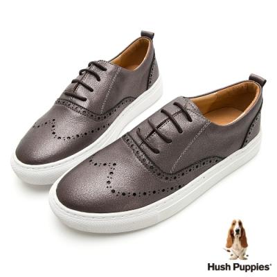 Hush Puppies Cocker 女牛津休閒鞋-金屬灰