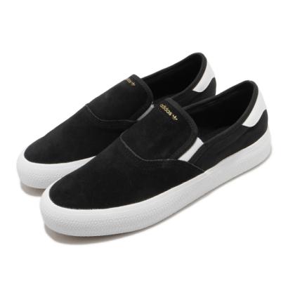 adidas 休閒鞋 3MC SLIP 套入式 男女鞋 海外限定 愛迪達 三葉草 麂皮 懶人鞋 黑 白 EG2637