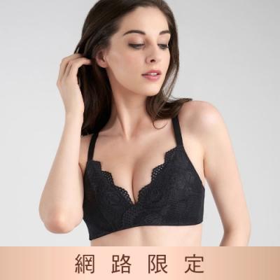 黛安芬-美型嚴選系列 無鋼圈 B-D罩杯內衣 黑色