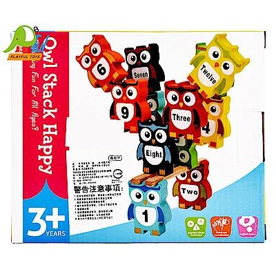 Playful Toys 頑玩具 木製貓頭鷹疊疊樂
