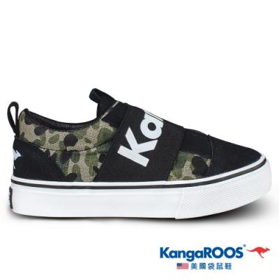 KangaROOS 美國袋鼠鞋 童 VISTA 帆布趣味童鞋(迷彩-KK01321)