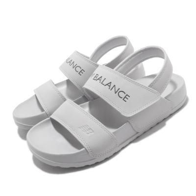 New Balance 涼拖鞋 SD3601GGYM 套腳 女鞋 紐巴倫 基本款 簡約 舒適 夏日 輕便 灰 白 SD3601GGYM