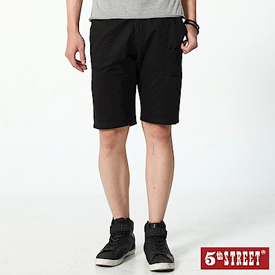 5th STREET 潮系列多色休閒五分褲-男-黑色