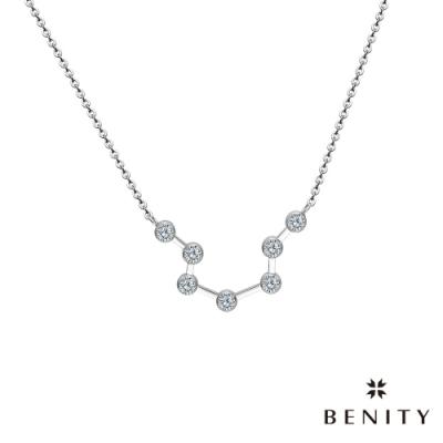 BENITY 織星-12星座 白鋼 八心八箭CZ美鑽 女項鍊