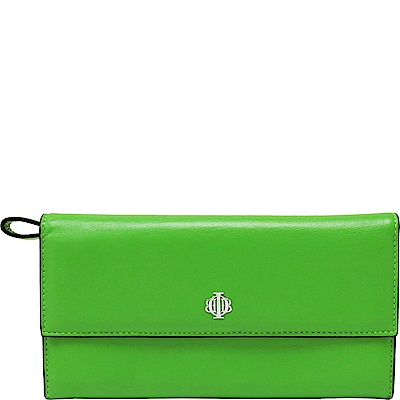 OBBI LAI 蘋果綠小羊皮長夾皮夾錢包(展示品)