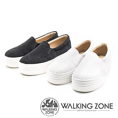 WALKING ZONE 燈芯絨鬆糕鞋 女鞋