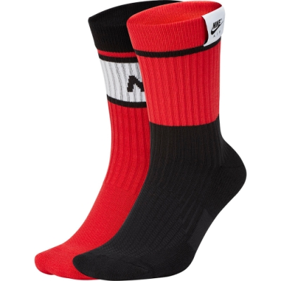 NIKE 運動襪 中筒襪  4雙入 黑紅SK0202945 U SNKR SOX CRW 4PR-NK AIR 1978