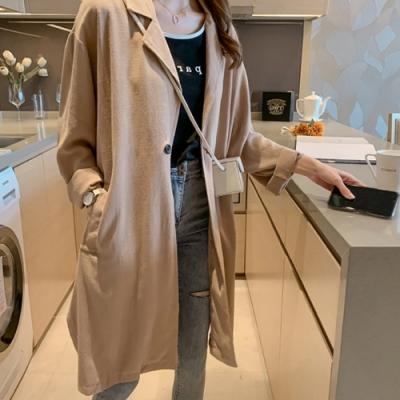 初色  寬鬆薄款風衣-共3色-(M-2XL可選)