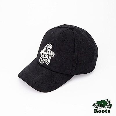 Roots配件- 立體圖案棒球帽-黑