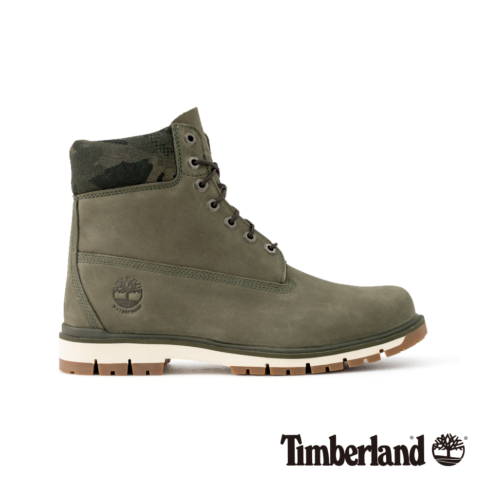Timberland男款深綠色正絨面皮革Radford 6吋靴 A1UNN