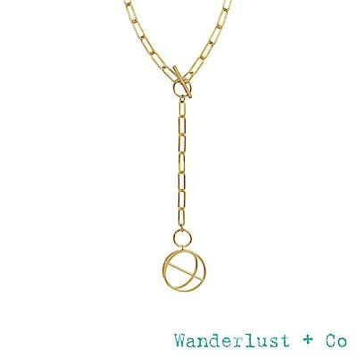 Wanderlust+Co INFUSION系列 環環相扣個性鍍18K金風格長項鍊