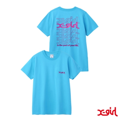 X-girl JELLY LOGO S/S REGULAR TEE短袖T恤-亮藍