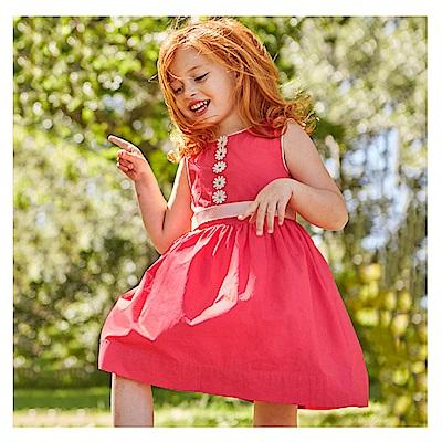 女童 中小童歐美亮色俏麗連身裙