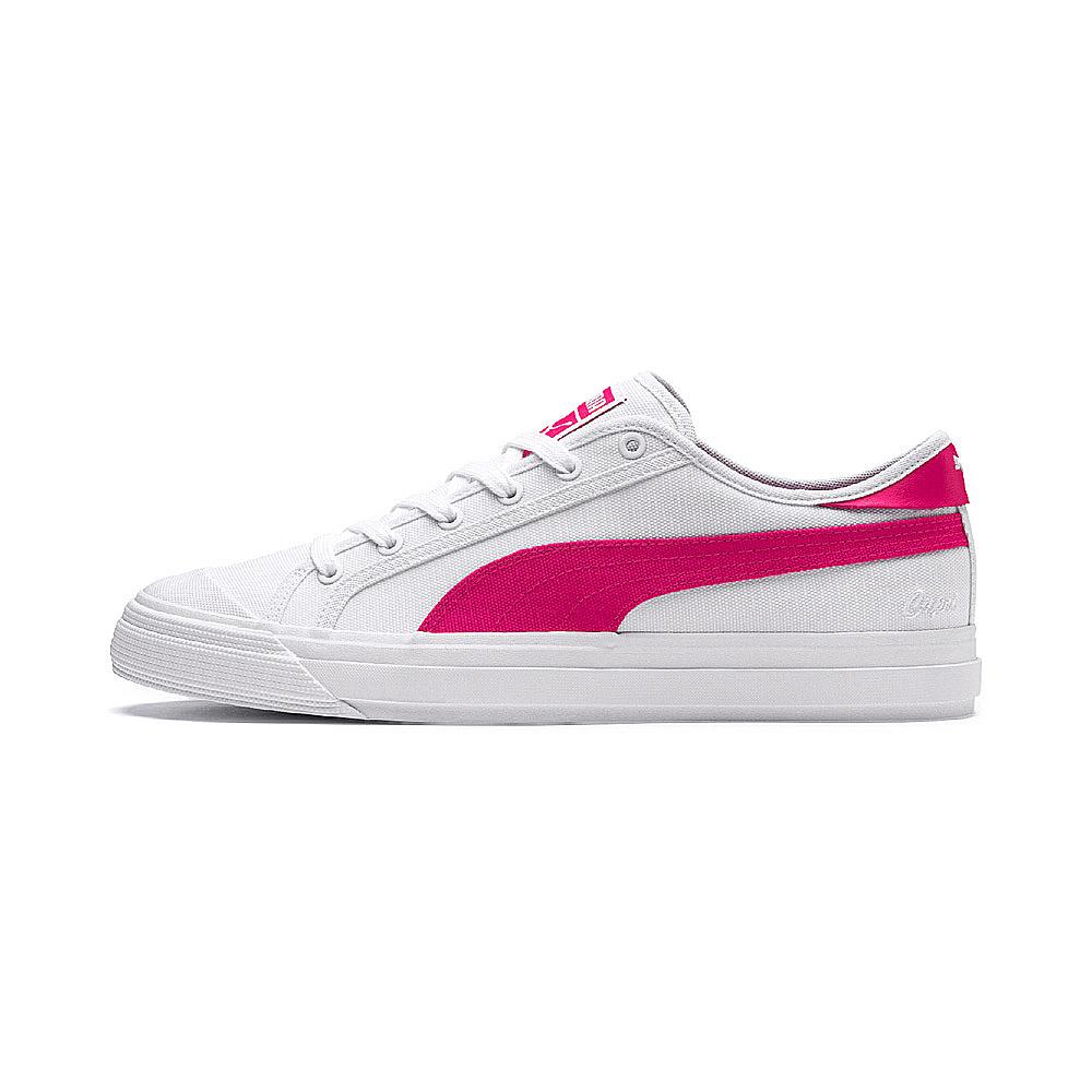PUMA-Capri 男女復古休閒鞋-白色
