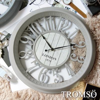 TROMSO紐約時代靜音時鐘-倫敦縷空數字淺灰