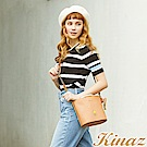 KINAZ x PEANUTS™ 光合野餐斜背水桶包-焦糖咖啡-好日子系列-快