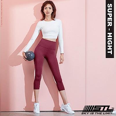 STL Wonder legging 7 韓 女 超高腰運動拉提褲 奇蹟酒紅
