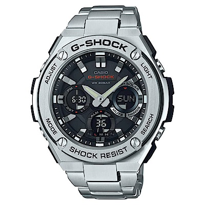 G-SHOCK 絕對強悍雙層防震太陽能運動錶(GST-S110D-1A)-52.4mm