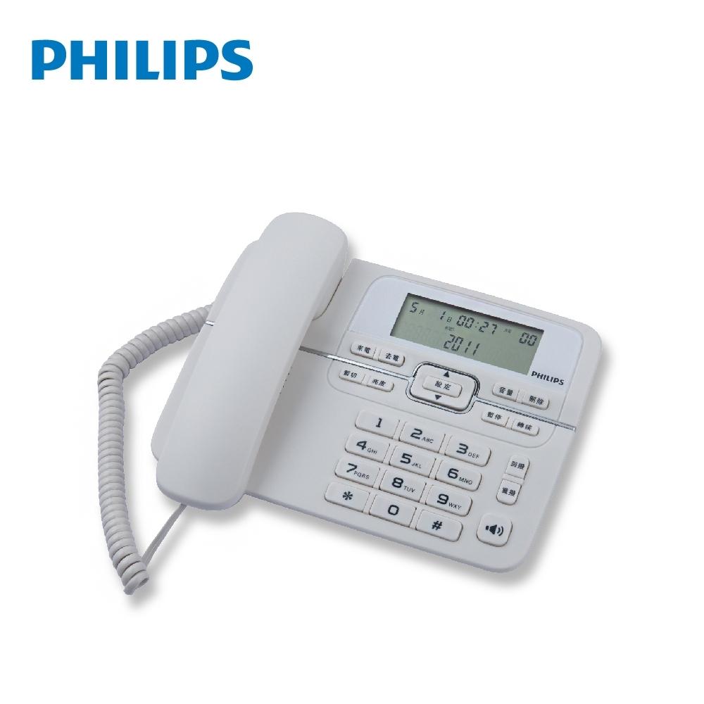 PHILIPS 飛利浦 來電顯示有線電話 M20W/96