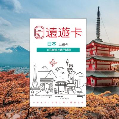 【遠遊卡】遠傳電信 原廠供貨 日本8日 Softbank 不降速吃到飽 現貨