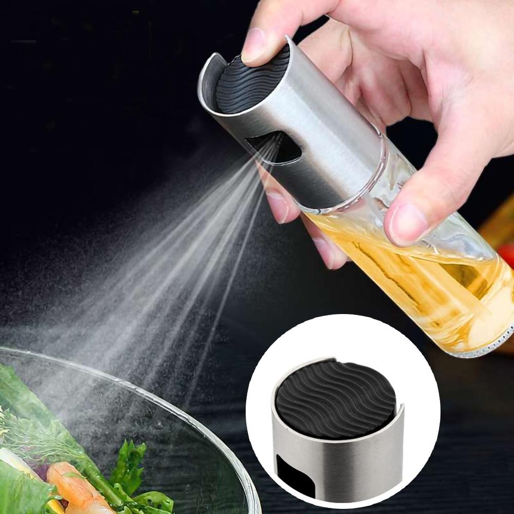 EZlife氣炸鍋控油噴油瓶2入組(贈加高餐盤托架)