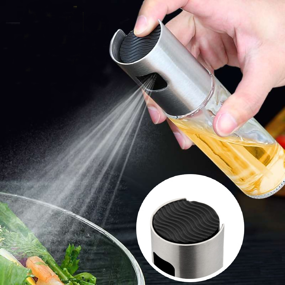 EZlife氣炸鍋控油噴油瓶2入組(贈無痕餐具收納掛架)