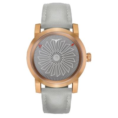 ZINVO流線渦輪機械Blade系列腕錶-灰X玫瑰金(WENCE)/36mm