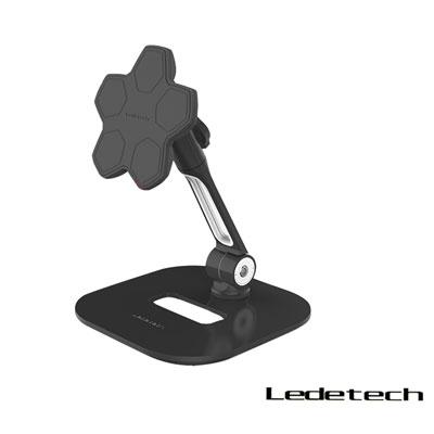 LEDETECH鋁合金磁吸手機平板架(LD-204D-T4BK)-黑色