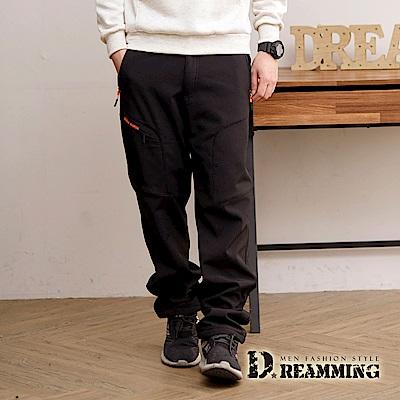 Dreamming 功能型休閒防風防潑水厚刷毛衝鋒雪褲-共二色