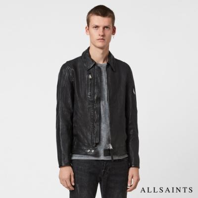 ALLSAINTS KALEB 英倫率性修身柔軟羊皮騎士皮衣外套-黑