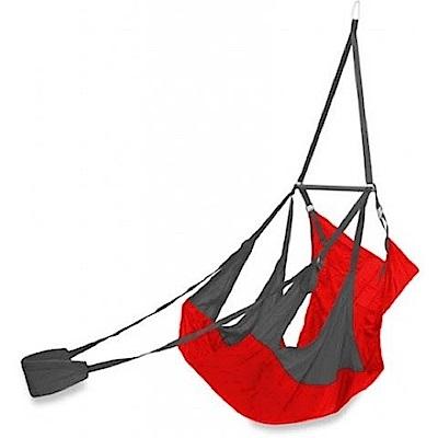 ENO Air Pod Hanging Chair 輕量懶人躺椅 碳灰/紅 超輕823g!