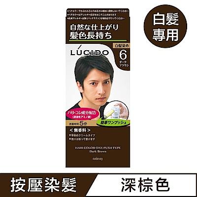 LUCIDO倫士度 按壓式染髮霜(深棕50g+50g)