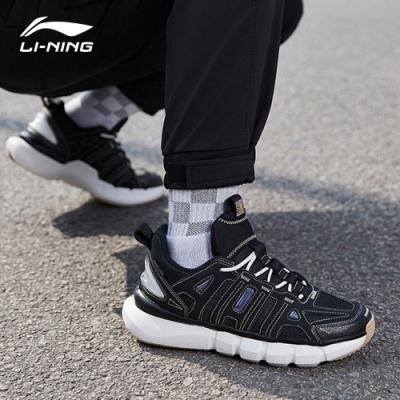 LI-NING 李寧 20悟道Infinite 時尚潮流休閒鞋-男 標準黑/海星褐/乳白色 (AGBQ031-1)
