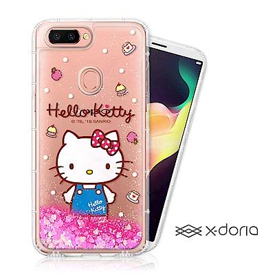 Hello Kitty OPPO R15 亮片流沙手機軟殼 - 點心