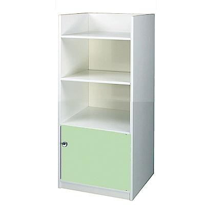 文創集 艾倫環保1.4尺塑鋼單門三格書櫃(四色)-43x40x132cm-免組