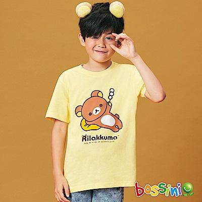 bossini男童-拉拉熊系列印花短袖T恤01芒果黃