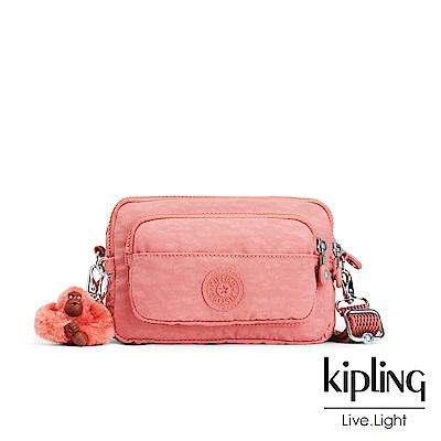 Kipling微甜薔薇粉兩用腰間側背包-MULTIPLE