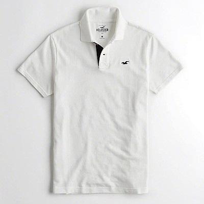 Hollister HCO  短袖 polo 白色 0908