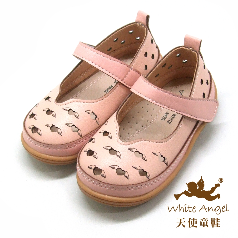 天使童鞋 愛心在飛翔娃娃鞋(小-中童)i931-粉