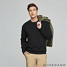 GIORDANO 男裝經典素色大學T恤- 01 標誌黑