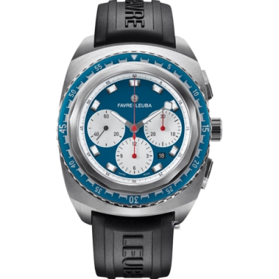 Favre-Leuba域峰表RAIDER系列SEA SKY腕錶-藍/44mm
