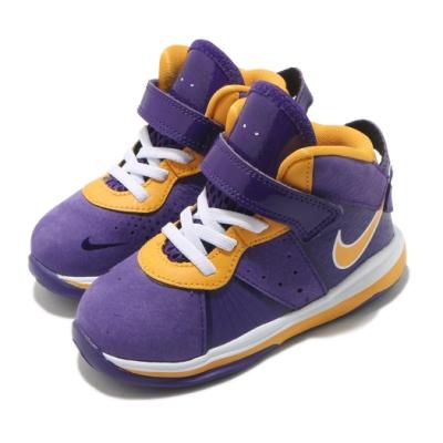 Nike 籃球鞋 LeBron VIII 運動 童鞋 明星款 避震 包覆 魔鬼氈 穿搭 小童 紫 黃 CT5116500