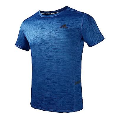 【ZEPRO】男子素面銀離子運動短袖上衣-寶藍
