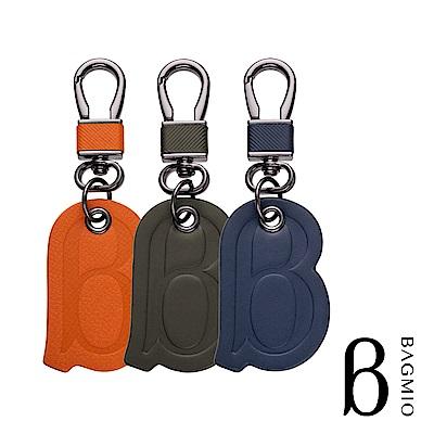 BAGMIO logo 牛皮鑰匙圈-三色任選