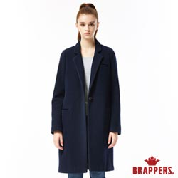 BRAPPERS 女款 合身長版毛料大衣-