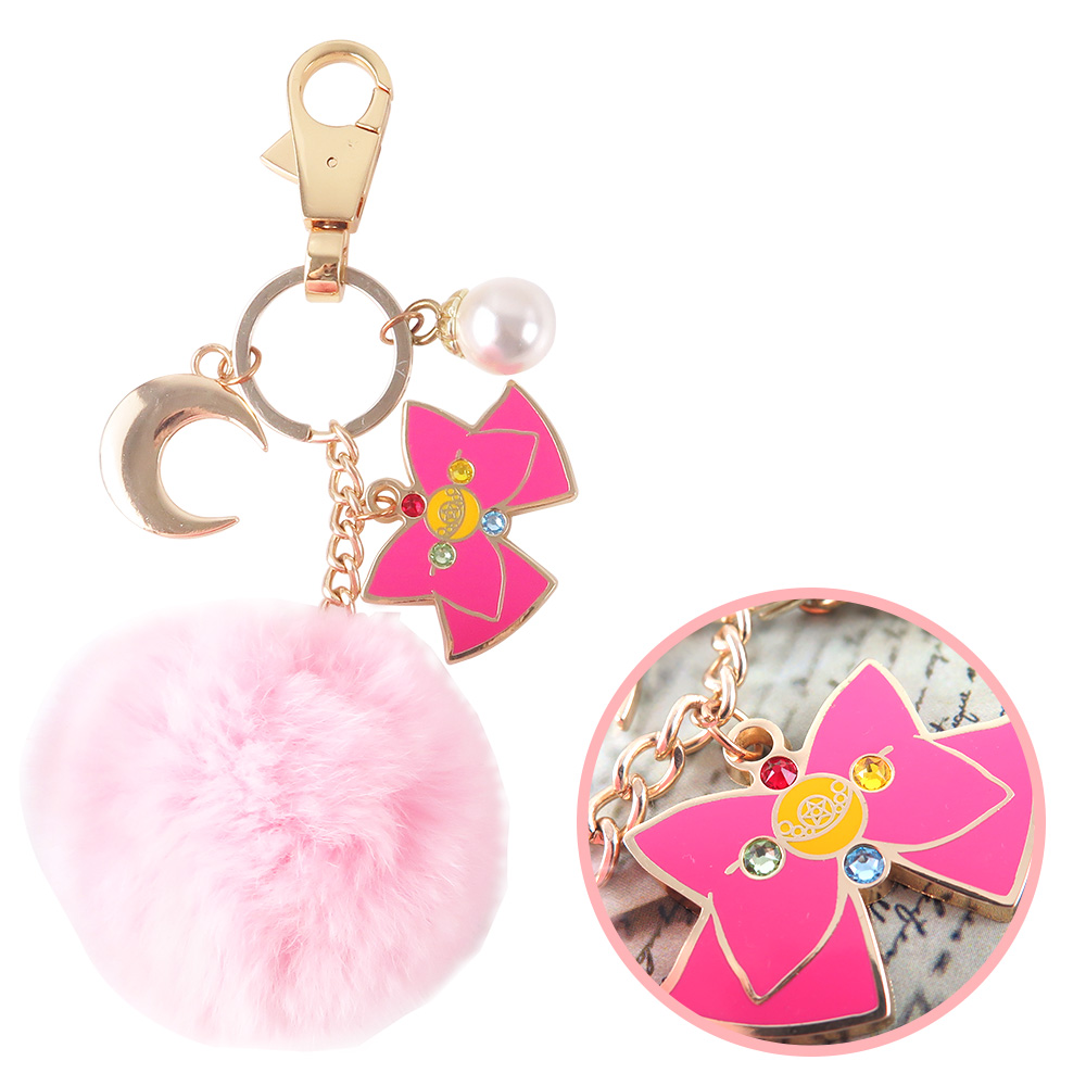 美少女戰士 月光蝴蝶結鑰匙圈 掛飾 吊飾_毛球