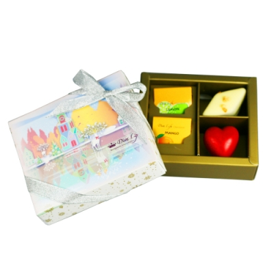 Diva Life 粉紅聖誕 紫饌巧克力禮盒 4入裝