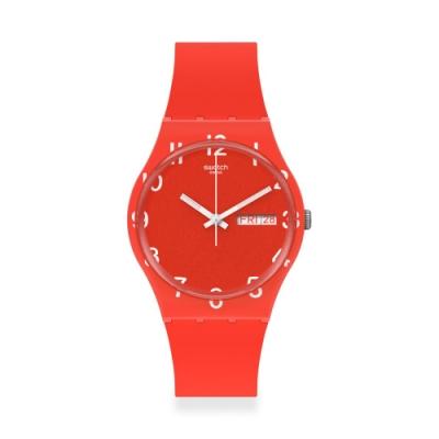 Swatch Gent 原創系列手錶 OVER RED-34mm