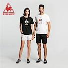 le coq sportif 法國公雞牌印花透氣短袖T恤 女-黑